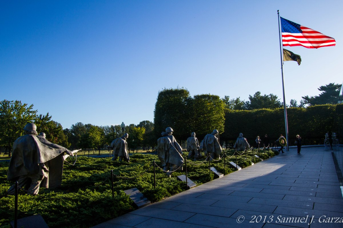 The Korean War Veterans Memorial in Washington D.C.