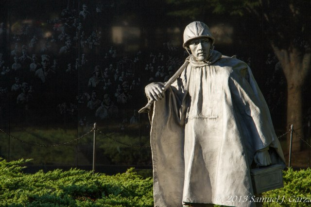 U.S. Marine at Korean War Memorial