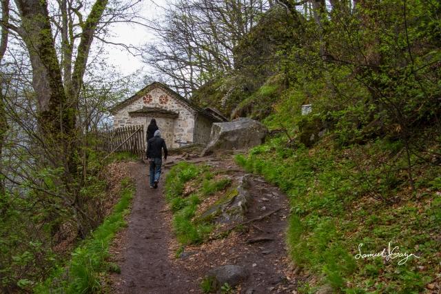 Small church near the cave entrance.