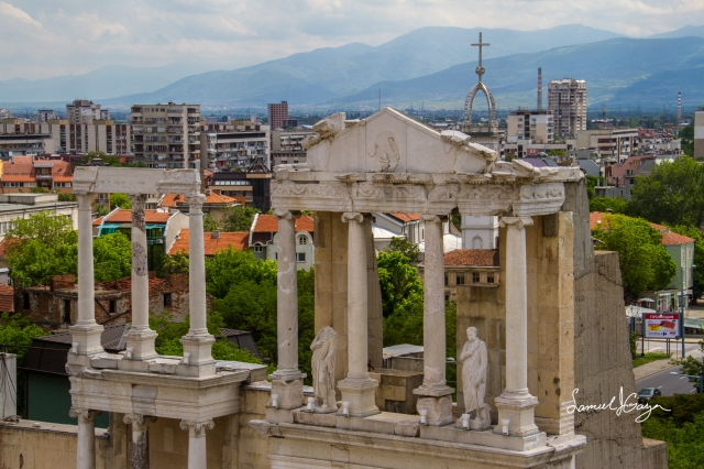 Columns of the Ancient Theatre.