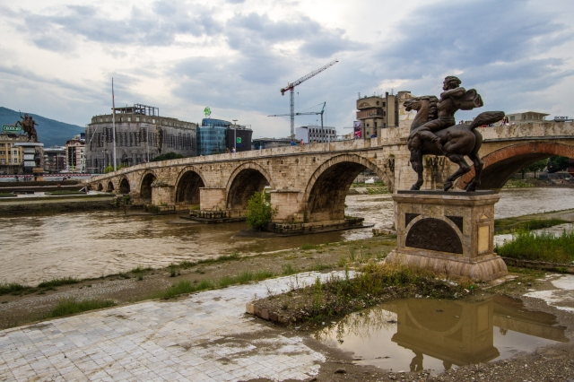 Old Bridge with Alexander statue in the back ground.