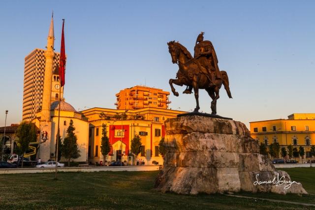 Skanderbeg Monument.