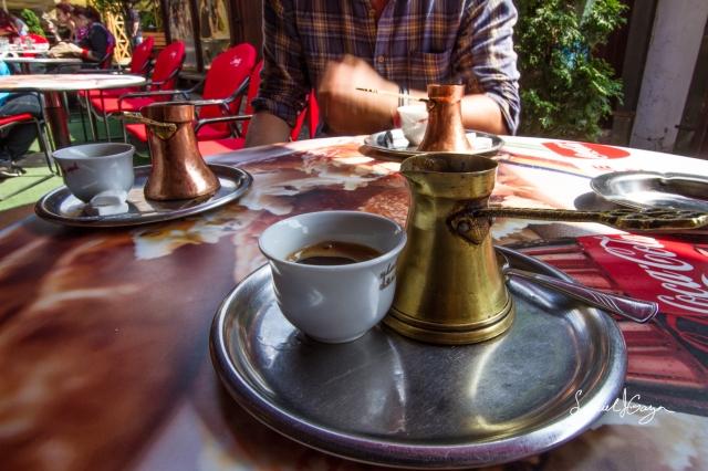 Bosnian Coffee at Cafe Dallas.