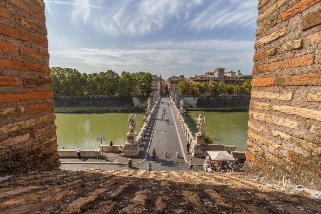 View of Ponte Sant'Angelo from the bridge.