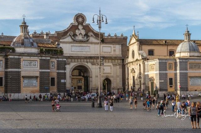 Church of Santa Maria del Popolo on the right.
