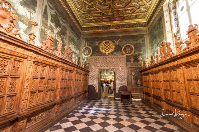 Entrance to the Sacristy.