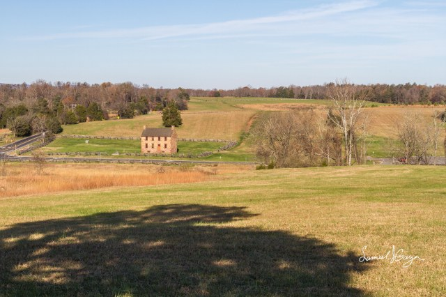 View from Matthews Hill facing the direction of the Federal main attack.